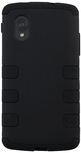 CP 2-In-1 Hard Case and Silicone Case for LG Google Nexus 5 - Non-Retail Packaging - Black