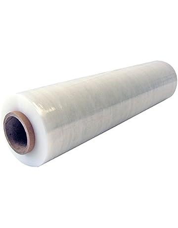 Film elástico transparente, 450 mm x 270 metros, protector extensible de embalaje para mudanzas