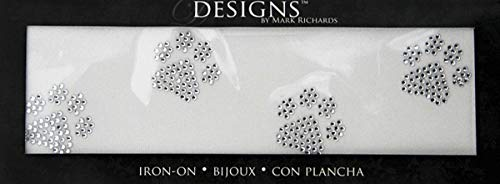 Designs 9793 Iron On Bling Paw Print, Small, Clear