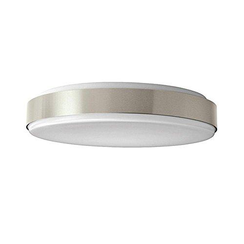 15 in. Brushed Nickel LED Round Ceiling Flushmount ()