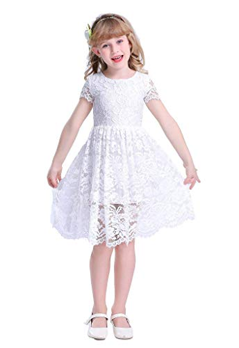 Happy Rose Flower Girl Lace Dress Country Dresses Junior Bridesmaid