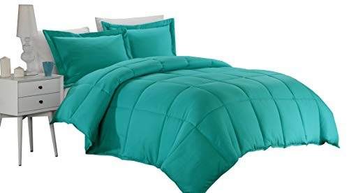 Luxury Goose Down Alternative Comforter With Corner Tab -2017 A/W New Design,(300 GSM)Soft and Warm, All Season Quilt,Plush Siliconized Fiberfill by Weavid Best Seller by Weavid