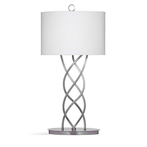 Bassett mirror company melina silver marble 34 inch table lamp