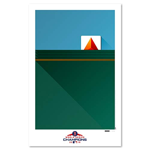 MLB World Series 2018 - Limited Edition Minimalist Fenway Park Art Poster Print (11X17 Inches) ()