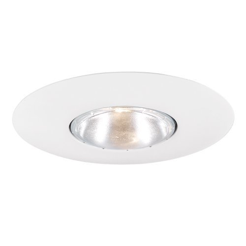 Jesco Lighting TM602WH 6-Inch Aperture Line Voltage Trim Recessed Light, Open Trim Ring, White Finish by Jesco Lighting Group - Voltage Open Trim