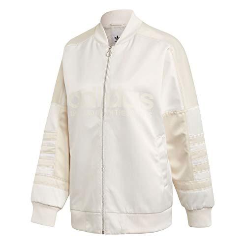 Donna Fw Track Jacket Urban Liscio Satin Felpa 18 Blanc White Dh4199 Adidas RHg7Ww
