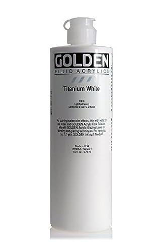 3M Golden Artist Fluid Acrylic Colors, 16 oz, Titanium White (Acrylic Golden Paint)