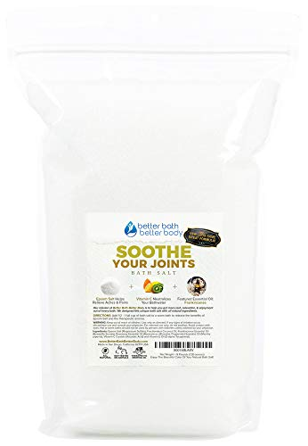 Soothe Your Joints Bath Salt 128oz (8-Lbs) Bulk Epsom Salt With Frankincense Essential Oils & Vitamin C Crystals - Soothing Formula With All Natural Ingredients & Zero Additives