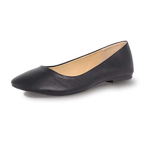 Eunicer Women's Classic Round Toe Slip On Ballet Flat Pump Shoes