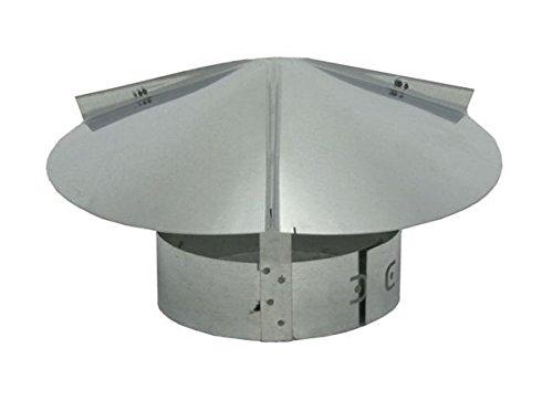 Chimney Flue Cone Top Rain Cap - Galvanized 6 inch ()