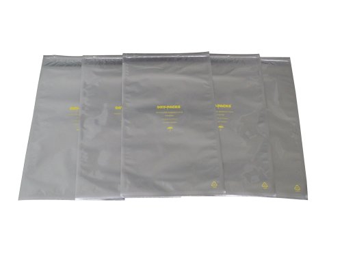 Dry-Packs 10 by 20-Inch Mylar Moisture Barrier Zipper Seal Recloseable Bag, Pack of 10