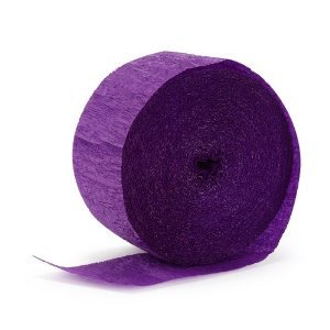 American Balloon Company Purple 23 Yards Crepe Streamer