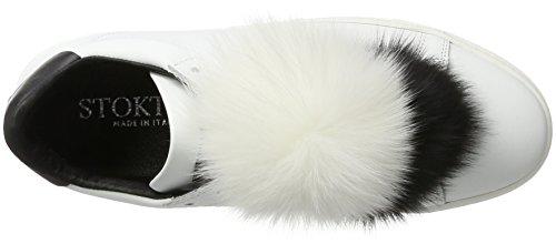 Donna Basse Sneaker Scarpe Bianco da Ginnastica Stokton XPvqff