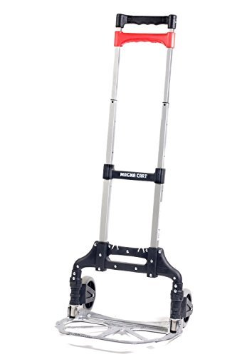 Magna Cart Personal 150 lb Capacity Aluminum Folding Hand Truck (Silver) by Welcom