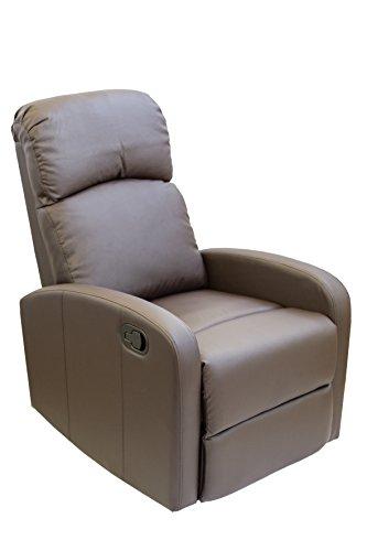Astan Hogar Confort Sillon Relax con Reclinacion Manual, Tapizado en PU Anti-Cuarteo. Modelo Premium AH-AR30600CH, Chocolate