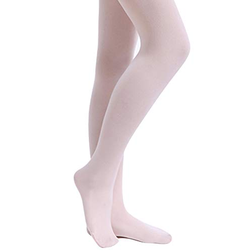 STELLE Girls' Ultra Soft Pro Dance Tight/Ballet Footed Tight (Toddler/Little Kid/Big Kid)(S, 2-Pair-Ballet Pink-Pack)