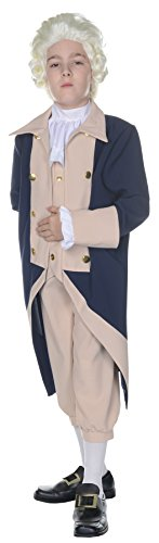 UHC George Washington Outfit Funny Theme Child Fancy Dress Halloween Costume, Child L (Funny Fancy Dress Halloween Costumes)
