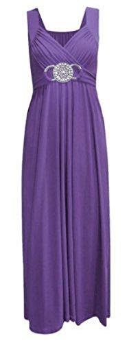 XXXL feste d'onore Abito S per alla lungo da cocktail di Purple e ideale taglie fine donna matrimoni damigelle dalla anno da sera balli party TfTFB0