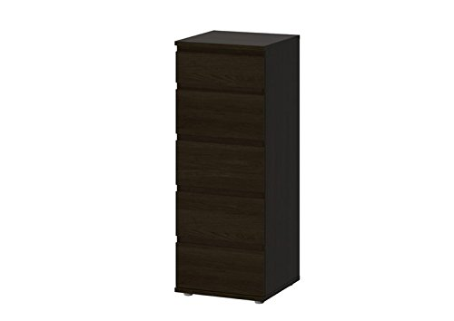 6 Drawer Narrow Chest (Tvilum Bright 5 Drawer Narrow Chest in Coffee)