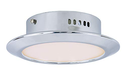 (ET2 E21160-01PC Hilite 1-Light LED Wall Sconce, Polished Chrome Finish, White Glass, LED Bulb, 35W Max., Dry Safety Rated, 2900K Color Temp., Low-Voltage Electronic Dimmer, Glass Shade Material, 320 Rated Lumens)