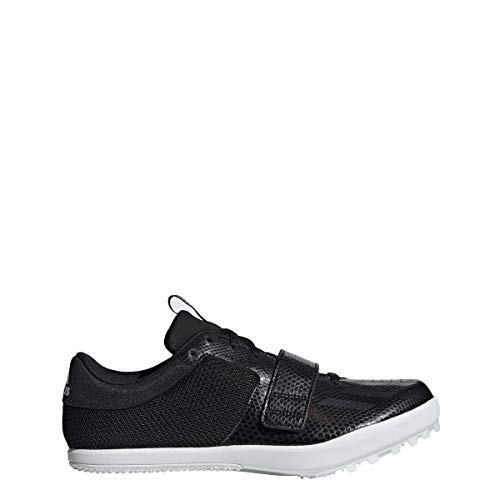 adidas Jumpstar Spike Shoe - Men's Track & Field 11.5 Core Black/White (Best Long Jump Spikes)