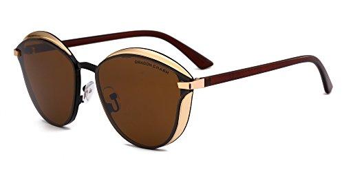 DRAGON CHARM 2017New women metal sunglasses Women Reflective Lens glasses - Sunglasses Dragon Women