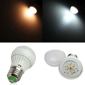 E27 3W Warm White/Cool White SMD 5730 LED Light Bulb AC 85-265V --- Color:Cool white