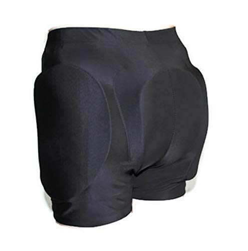 (CRS Cross Padded Figure Skating Shorts - Crash Butt Pads for Hips. (Youth Large/X-Large) Black)