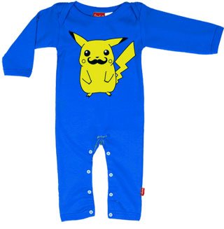 Smosh Inspired Pikachu Baby Playsuit - Green 0 - 6 Months