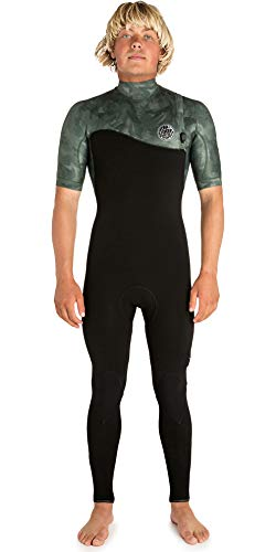 Rip Curl Mens E-Bomb 2mm Zip Free Short Sleeve Wetsuit Camo - Easy Stretch