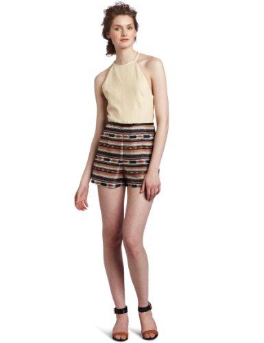 Dolce Vita Women's Chia Romper, Creme/Desert Sand, (Desert Sand Silk)