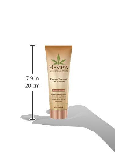 Hempz Touch of Summer Daily Moisturizer, Medium Skin Tones, 8 Fluid Ounce
