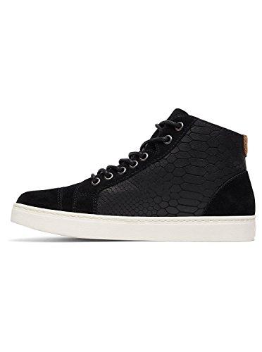 Para Piel Roxy Con Zapatos Arjs100018 Mujer Cordones De Melbourne Black Bwfq1nfOY