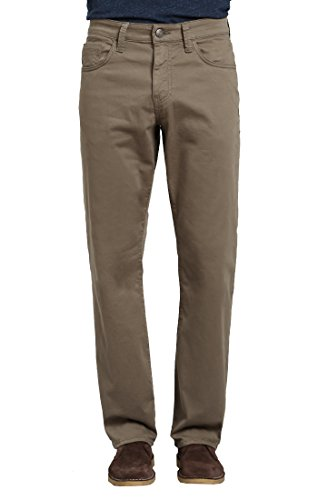 Mavi Men's Matt Classic Mid-Rise Relaxed Straight-Leg Jeans, Dusty Olive Twill, 38W X 30L