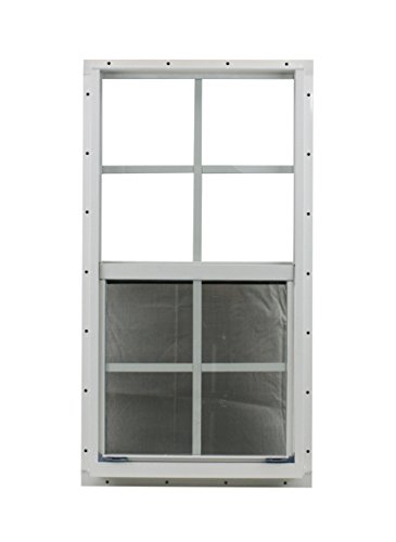 21 X 27 Shed Window Safety Glass Storage Shed Garages Playhouse Tree House (White Flush) by Shed Windows and More (Image #1)