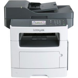 Lexmark MX511DE Laser Multifunction Printer - Monochrome - Plain Paper Print - Desktop - Copier/Fax/Printer/Scanner - 42 ppm Mono Print - 1200 x 1200 dpi Print - 42 cpm Mono Copy - Touchscreen LCD - 1200 dpi Optical Scan - Automatic Duplex Print - 350 she