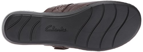 free shipping discount CLARKS Women's Leisa Sadie Mule Dark Brown Leather outlet cheap online ZwFV6