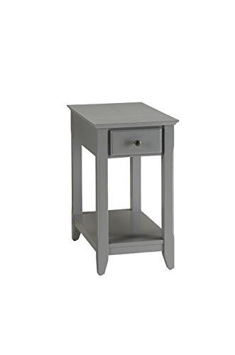 Bedroom Rectangular Nightstand - Acme Furniture 82838 Bertie Side Table, Gray, One Size