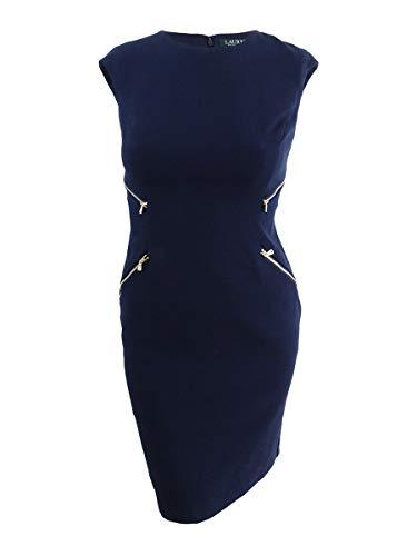 Lauren Ralph Lauren Women's Galiena Zippered Sheath Dress (12, Lighthouse - Zippered Ralph Lauren