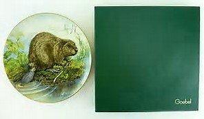 Goebel 1st Edition 1980 Lissa Calvert THE BEAVER collector plate - North American Wildlife Series