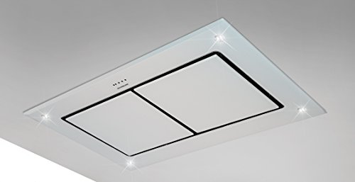 dawn t2 100cm designer white glass ceiling extractor hood with rh amazon co uk kitchen ceiling extractor fan nz kitchen ceiling extractor fan nz