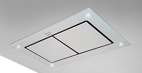 Dawn t2 100cm designer white glass ceiling extractor hood with dawn t2 100cm designer white glass ceiling extractor hood with inline motor 1400m3h amazon large appliances aloadofball Image collections