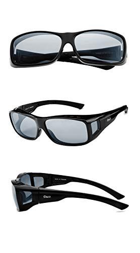 DUCO Unisex HD Wraparound Prescription Glasses Polarized Sunglasses 8953