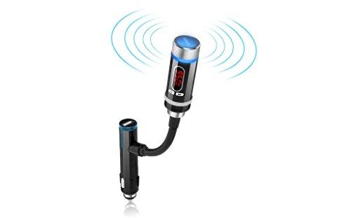 AUKEY® Bluetooth FM Transmitter Auto Audio KfZ MP3 Player und Freisprecheinrichtung mit USB Port für Smartphones und Handys