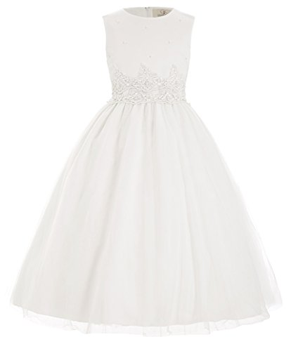 Girls Dresses for Special Occasions White Tulle 4-5 Years 4 Flower Girl