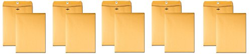 Quality Park Clasp 9 x 12 Inch 28lb Brown Kraft Envelopes 100 Count (37890) (Pack of 500) by Quality Park