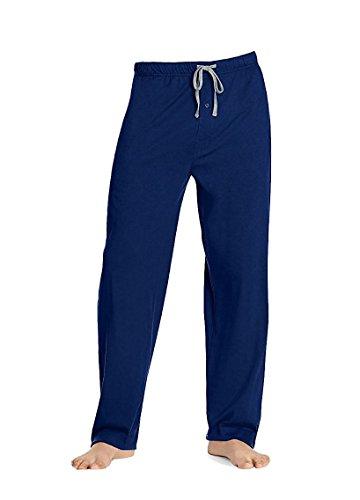 Solid Mens Pajamas - Hanes - Mens Solid Knit Sleep Pant, Royal 38434-X-Large