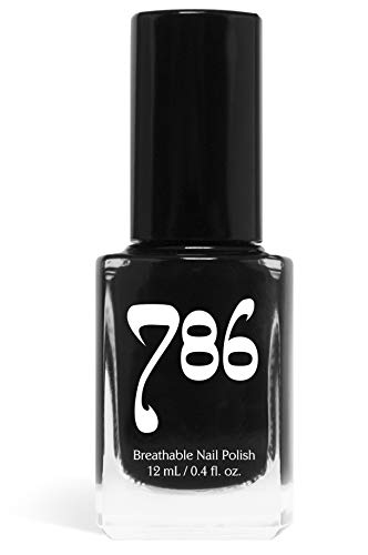 - 786 Cosmetics Java - (Black) Vegan Nail Polish, Cruelty-Free, 11-Free, Halal Nail Polish, Fast-Drying Nail Polish, Best Black Nail Polish