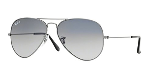 Ray-Ban RB 3025 Aviator Gunmetal w/ Gray Polarized Lens -