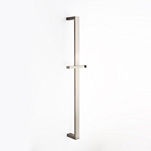 Square Slide - JiaYouJia Solid Brass Adjustable Wall Mounted Square Slide Shower Bar in Brushed Nickel